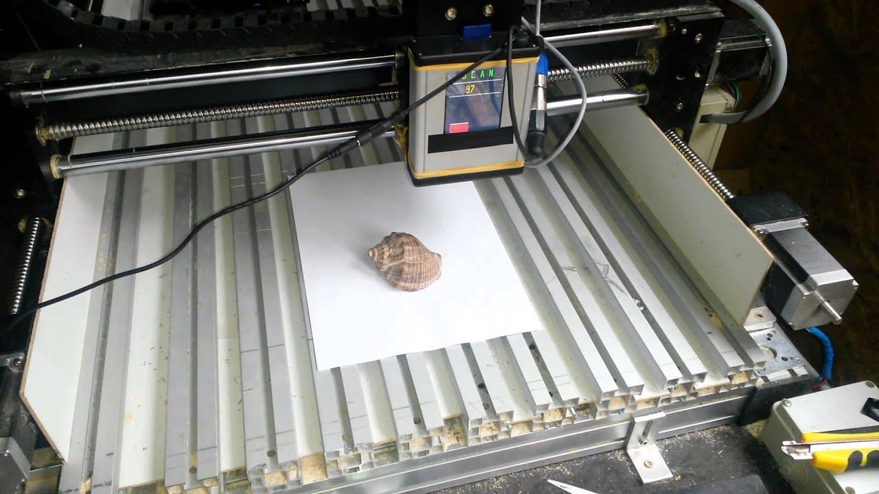 SCANNER 3D CNC , LASER DIGITIZING PROBE CNC - YouTube