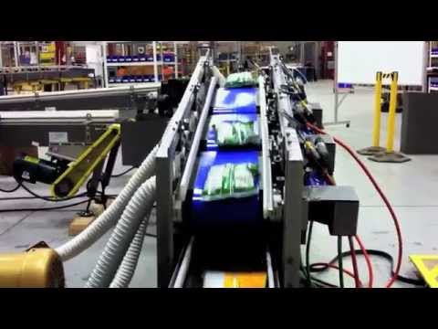 2:1 Merge w/Servo talks to Ethernet and doubles production (by Multi-Conveyor)