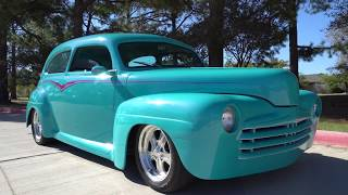 1947 Ford Deluxe Custom Street Rod 1990s era build American Hot Rod sedan road test & tour