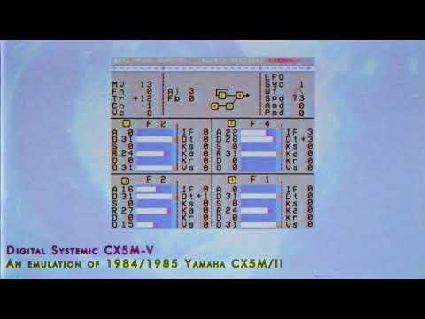 1984 Yamaha CX5M free VST Emulation (Digital Systemic CX5M-V)