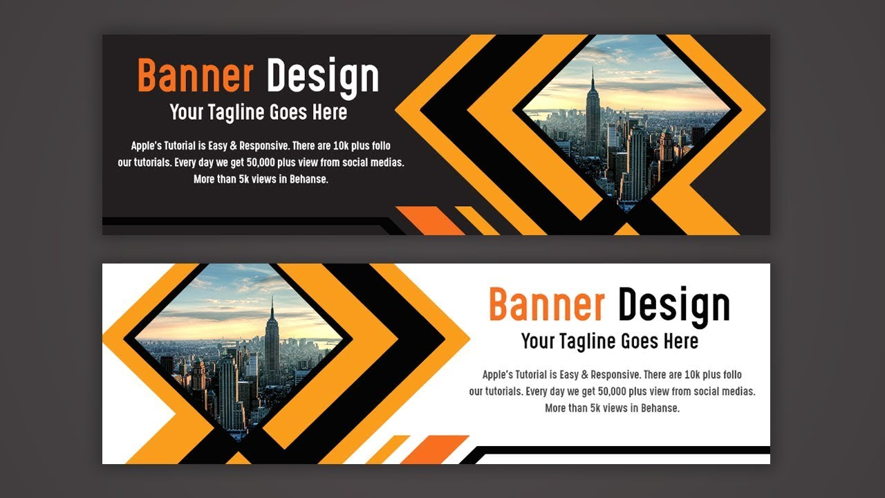 make a creative web banner ad design photoshop tutorial youtube make a creative web banner ad design photoshop tutorial