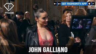 Paris Fashion Week Fall/WItner 2017-18 - John Galliano Front Row   FashionTV