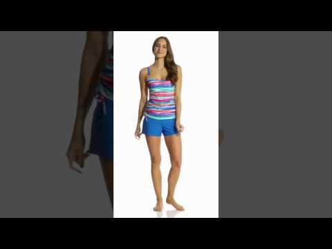 b679cda898 Beach Diva Ethereal Illusion Shortini One Piece Swimsuit | Swimoutlet.Com -  YT