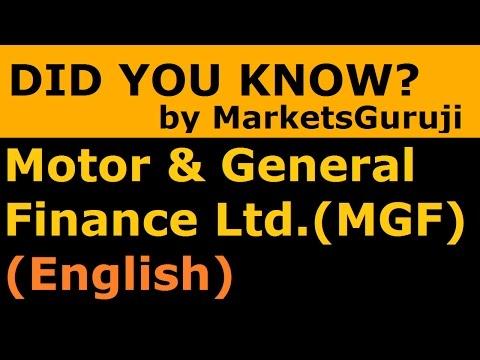 Motor & General Finance Ltd (English) (MGF Ltd) | Did You Know? Series By Markets Guruji