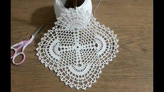Tığişi Kare Dantel Motifi Yapımı Part 1  \u0026 Crochet
