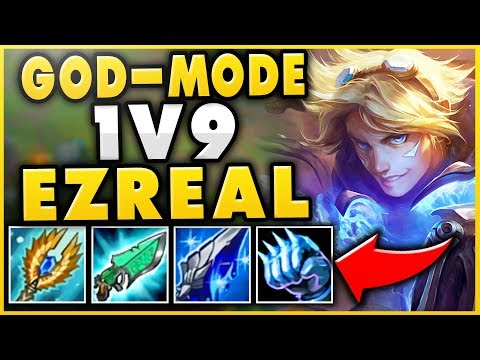 THIS EZREAL BUILD IS ACTUALLY 100% BROKEN! ONE-SHOTS, INSANE HEALING, CRAZY DPS - League of Legends thumbnail