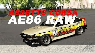 Assetto Corsa Japanese Pack AE86 Raw Sound