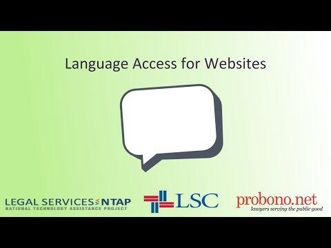 Language Access for Legal Aid Websites