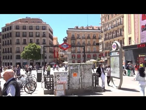 (3D) Madrid Downtown - Plaza de Callao to Plaza de Cibeles, walking through Gran Via Full HD 1080i