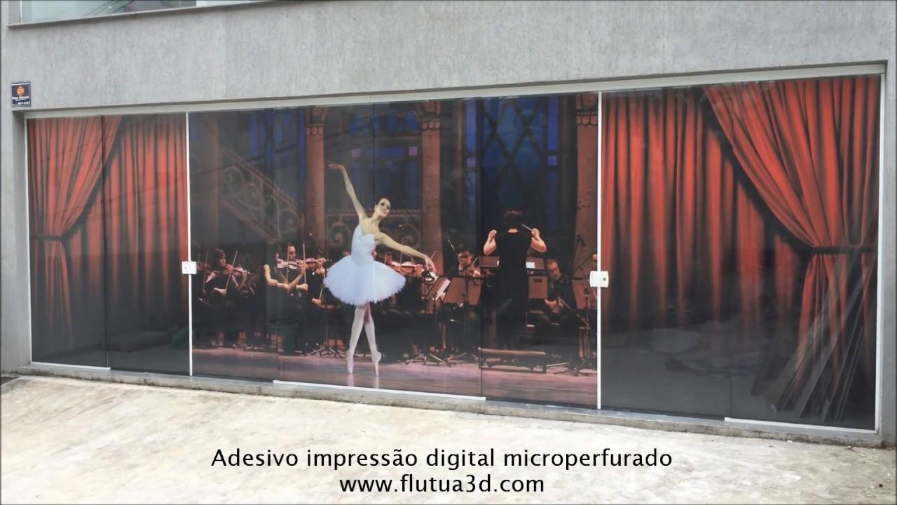 Artesanato Xavantes ~ adesivo Impress u00e3o Digital Microperfurado YouTube