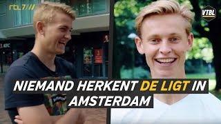 LOL! Niemand herkent De Ligt in Amsterdam - VTBL