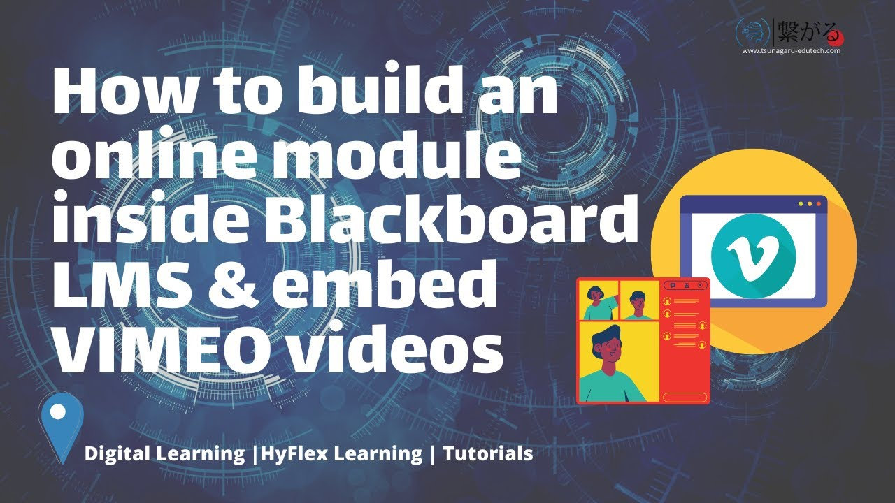 How to create an eLearning Module & Vimeo Integration into Blackboard