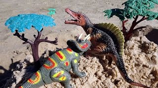 Dino Attack! Predator vs.  Prey! Dinosaurs Video For Kids