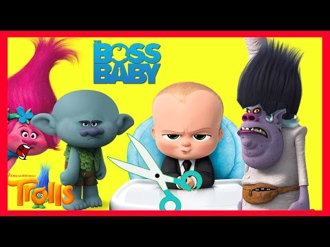 Thumbnail: Boss Baby Cuts Trolls Hair with Bergen Chef Part 12 - Smurfs Toys | Ellie Sparkles