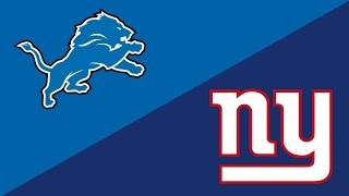NFL Week 15 Preview: Detroit Lions/New York Giants
