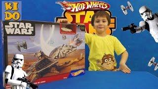 Hot Wheels Star Wars Jakku игровой набор звездные войны эпизод 7 побег из Jakku распаковка играем