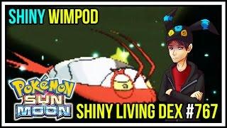 omg shiny wimpod in 964 soft resets   shiny living dex 767   pokemon sun and moon