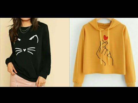 Top 20 Stylish & Cute Sweatshirt Design For Winter/#Sheinsweatshirt |2018| 1