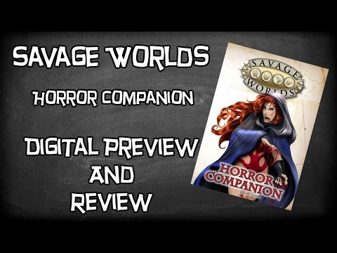 Savage Worlds, Horror Companion by Pinnacle Entertainment, Digital Look & Review