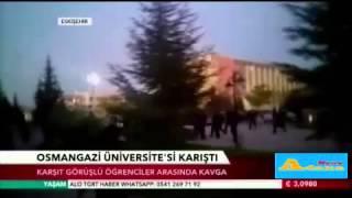 Osmangazi Üniversitesi'nde öğrenciler birbirine girdi