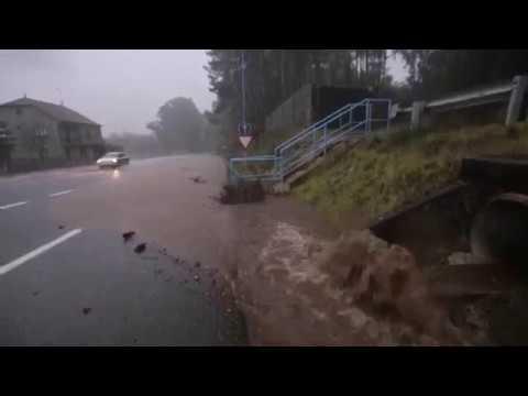 La borrasca Ana provoca inundaciones en Arousa
