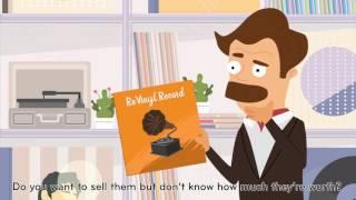 レコード売買アプリ「Re vinyl」サービス紹介動画(Crevo制作実績)