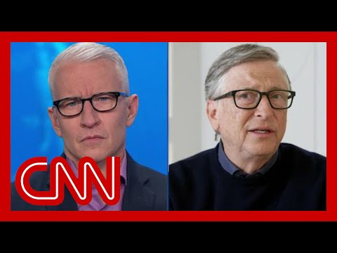 Anderson Cooper asks Bill Gates if he'd eat inside a restaurant 1 year from now