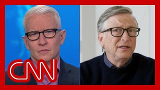Anderson Cooper asks Bİll Gates if he'd eat inside a restaurant 1 year from now
