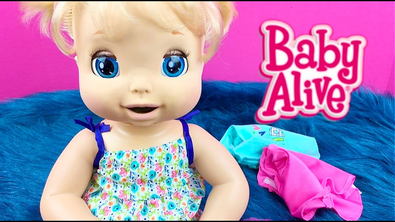 Baby Alive Toys : Baby alive doll beatrix tries on new clothes from