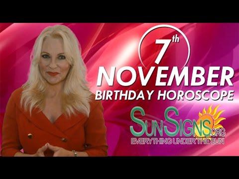 Birthday November 7th Horoscope Personality Zodiac Sign Scorpio Astrology