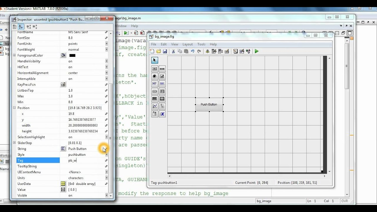 how to open gui in matlab
