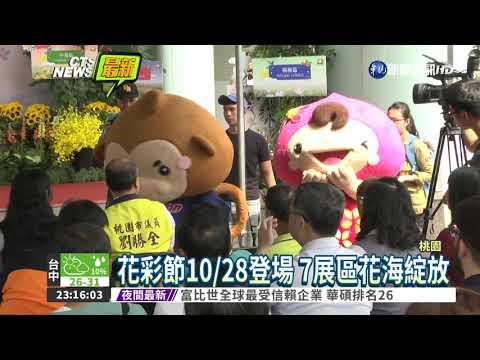 百花齊放 桃園花彩節10/28登場