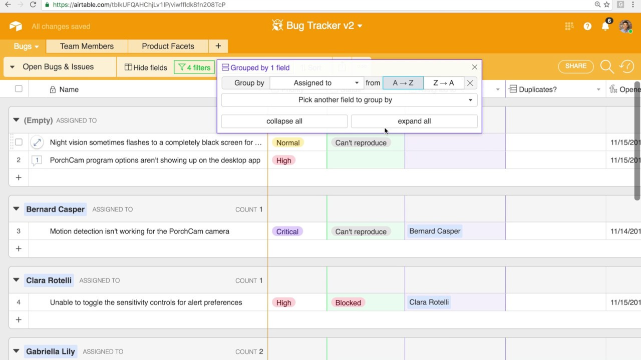Airtable Demo: Managing Your Bug & Issue Tracking Processes