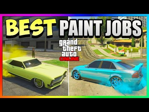 GTA 5 Online - Best RARE Paint Jobs! Car Customization Guide 1.37/1.29 (GTA 5 Paint Jobs)