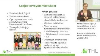 Kouluterveydenhuolto: Marke Hietanen-Peltola, ylilääkäri, THL