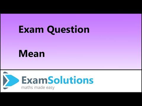 S1 Edexcel January 2011 Q2 : ExamSolutions Maths Tutorials