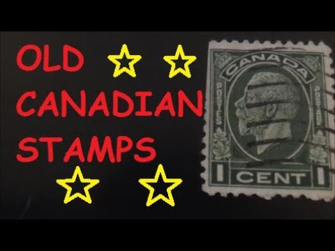 Old Canadian Stamps 1910 - 1952