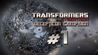 Transformers War for Cybertron Walkthrough - Decepticon Campaign Part 1 Commentary - Lord Megatron