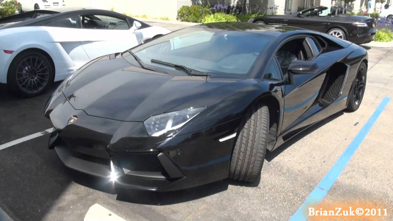 Black Lamborghini Aventador Lp700 4 Youtube