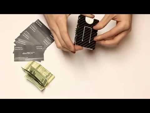 slimTECH Carbonlite: carbon fiber minimalist rfid wallet