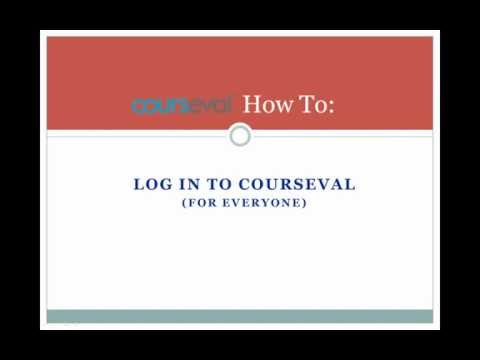 How To - Log in to CoursEval