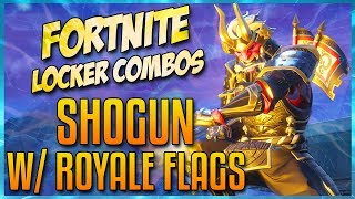 FORTNITE LOCKER COMBOS: SHOGUN W/ ROYALE FLAGS | ONSLAUGHT | TERMINUS | GLITCH IN THE SYSTEM!