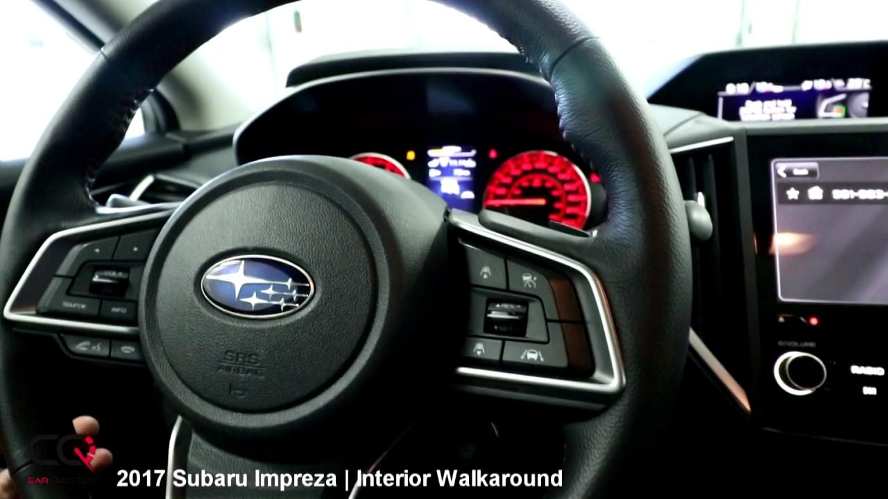 2017 subaru impreza review interior walkaround part 2 8 car question