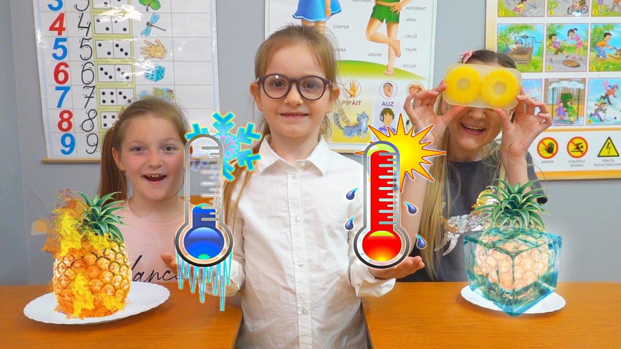 Fierbinte vs Rece la scoala | Hot vs Cold Challenge