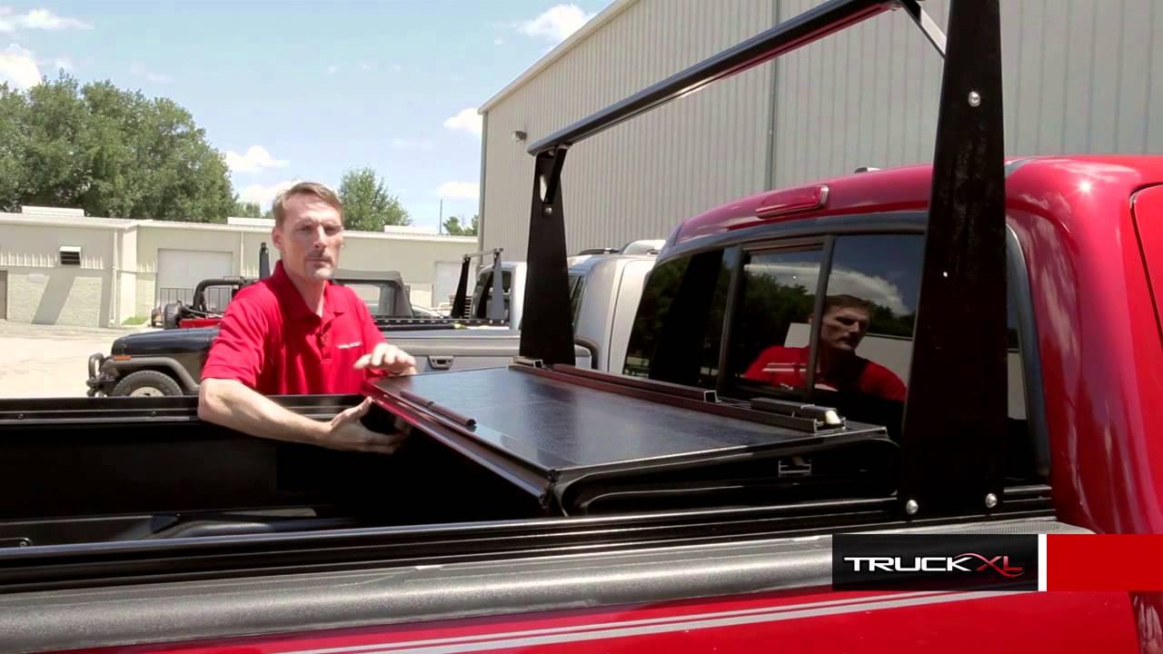 bakflip cs tonneau cover review with truck rack system autocustoms com
