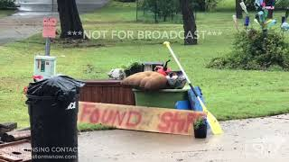 10-17-18 Kingsland, TX - Residents Clean Up Debris as More Flooding Expected