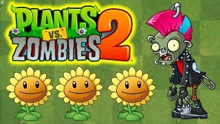 SŁONECZNIKI VS PUNK ZOMBIE | PLANTS VS ZOMBIES 2 #100 #admiros