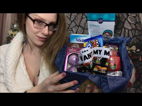 ASMR BINAURAL | Straight Forward Aunt Brings You PMS Care Package