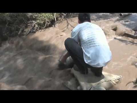 Contaminación la quebrada El Escobal, San Rafael
