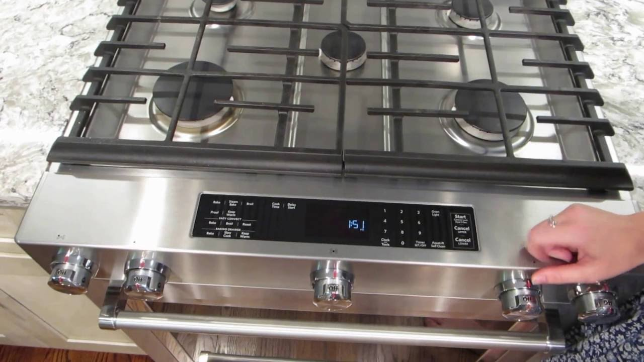 Kitchen Aid Gas Stove Bronze Faucet Convection Slide In Range Review Ksgb900ess Youtube